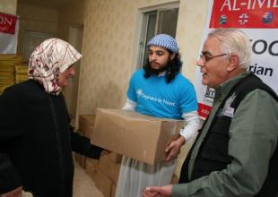 Winter supplies distribution to Syrian refugees – Day 1