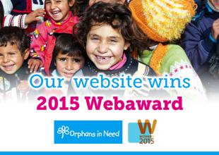 Orphans in Need wins 2015 WebAward